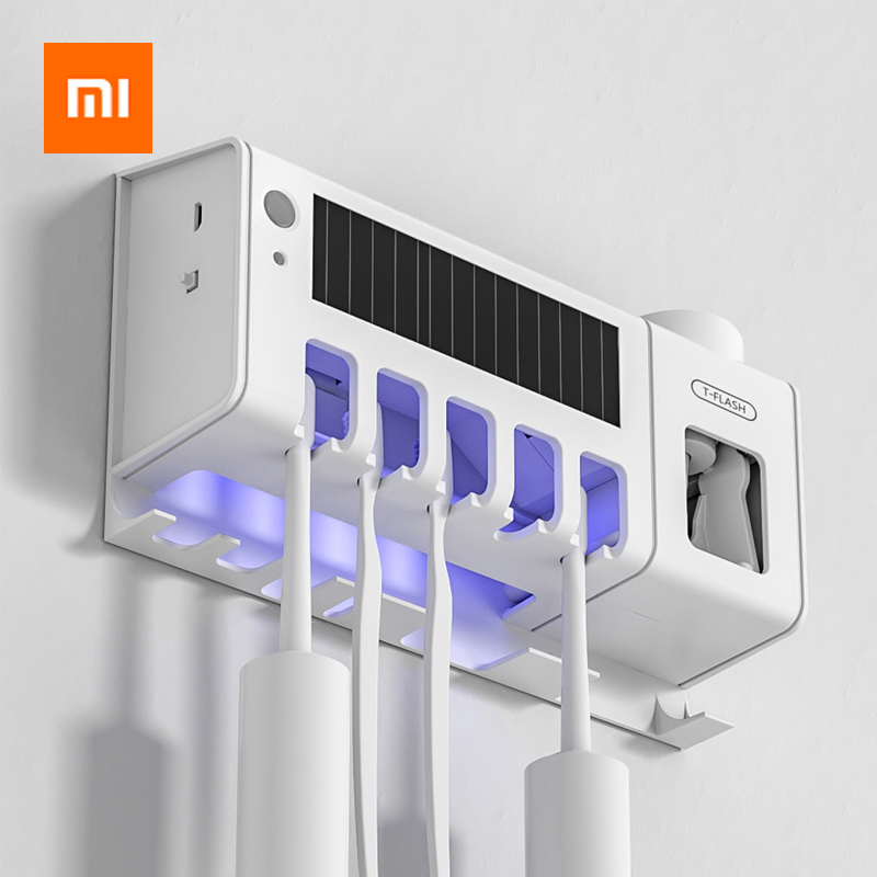 Xiaomi T-FLASH Smart UVC Sterilization Disinfect Solar Light Rechargeable Toothbrush Holder With Human Induction Sensor image