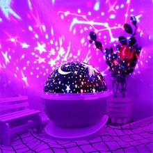 цена на rotating LED Star Sky Projection Lamp LED Night Light Projector Luminaria Moon Novelty Table Lamp Battery USB Light for Children