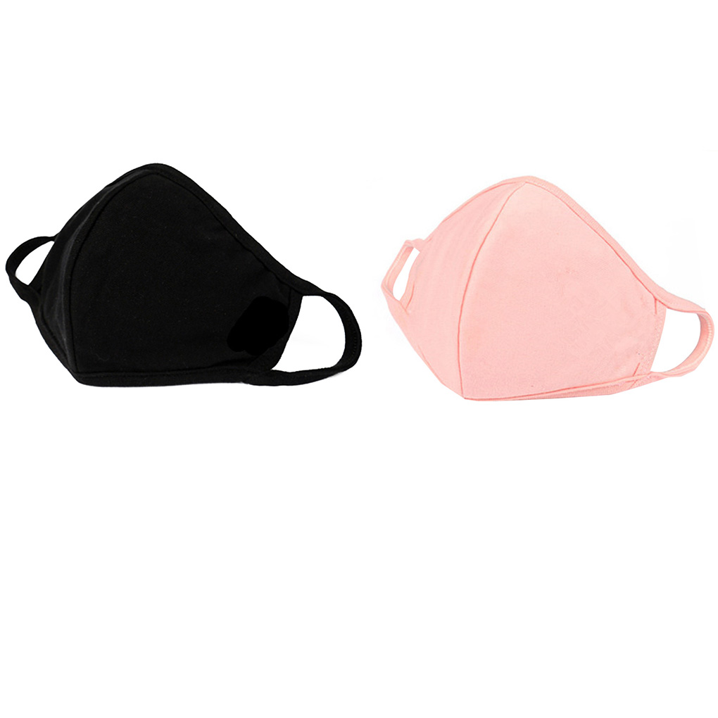 1PC Cotton Thin Personality 3D Mask Breathable Washable Men Women Dustproof Earloop Face Mouth Masks