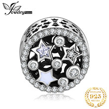 Jewelrypalace 925 Sterling Silver Twinkle Star Cubic Zirconia Beads Charms Fit Bracelets Gifts For Women Fashion Jewelry Present(China)