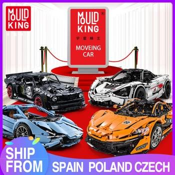 MOULD KÖNIG MOC Technik Series Super Racing fernbedienung Auto Modell Bausteine Ziegel Kinder Pädagogisches Spielzeug Weihnachten Geschenke