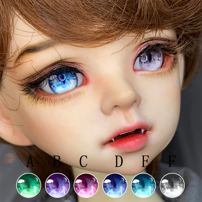New 12MM Colorful Iris Glass BJD Eyes  for BJD AOD DD OOAK Doll Volks Luts Doll