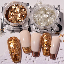 Glitter-Powder Mica-Slice Nail-Art-Decorations Sequins Metal Ultra-Thin for Manicure