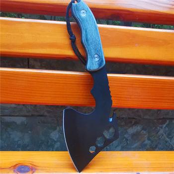 CS Sharp Tomahawk osie topór ręczny ogień topór nóż do trybowania siekanie mięso kości taktyczne Camping Survival polowanie kieszonkowe noże tanie i dobre opinie Doom Blade CN (pochodzenie) Maszyny do obróbki drewna 26CM 350G 8CR13MOV Siekierą głowy STAINLESS STEEL Single-bit Wielofunkcyjny