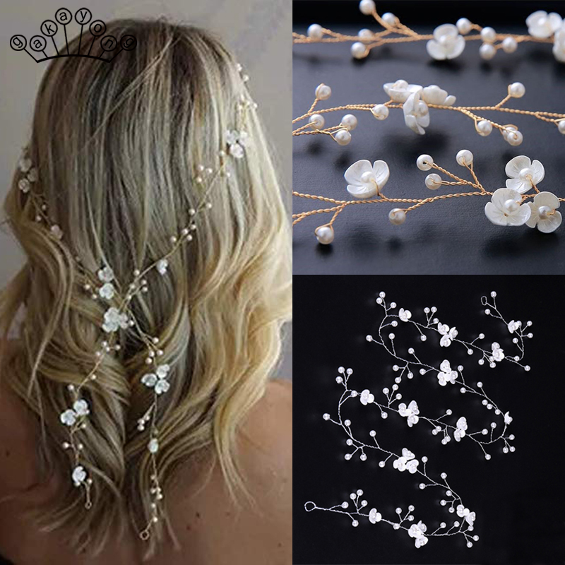 Crystal Headbands Wedding Hair Accessories Handmade Floral Pearl Rhinestone Headwear Hair Ornament For Bride Girls