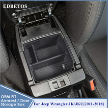 Car Styling Accessories 1PCS Plastic Interior Armrest Storage Box Organizer Case Container Tray For Jeep Wrangler JK JKU