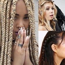 18 סוגי שיער צמות Dread Dreadlock BeadsAncient זהב/כסף מצופה מתכוונן שיער צמות כוכב ים מעטפת שרוול קליפ צמת חישוק