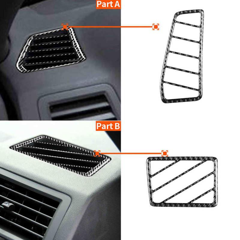 2 шт. углеродного волокна и вырезами по бокам на выходе отделка интерьера подходит для Dodge Challenger 2008-2014 для леворульных автомобилей A/C на выход...