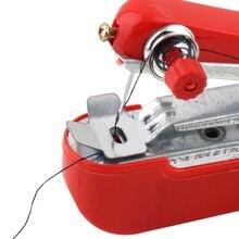 1 шт. Горячая Полезная портативная рукоделие Беспроводная мини ручная одежда ткани швейная машина JAN88