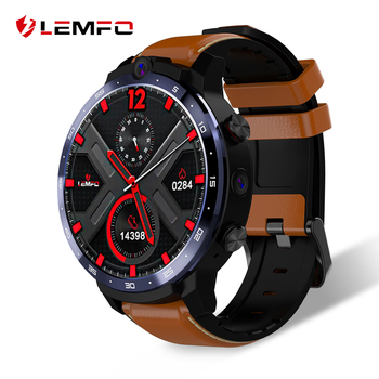 LEMFO 2020 4G smart watch new 3G 32G 500W + 800W dual Camera Face ID unlock 1.6