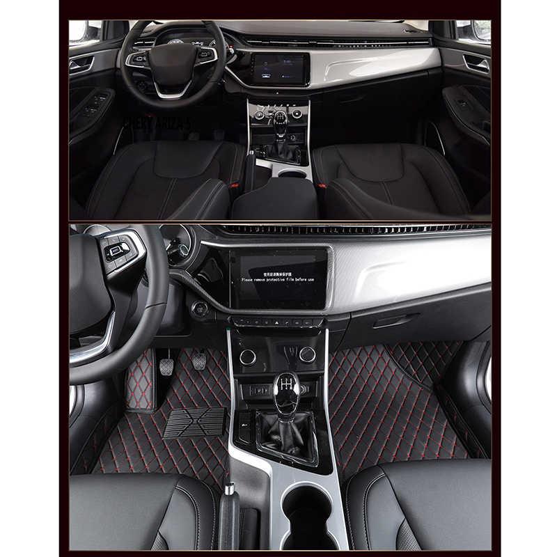 Flash in pelle mat mat car piano Per Dongfeng FengShen AX7 AX3 H30 S30 A60 A30 AX5 AX4 E70 A9 jinyi x5 Per Dongfeng stuoia del piede dell'automobile