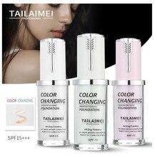 TLM 40 мл Белый Зеленый Фиолетовый температура изменить Жидкий тональный крем SPF 15 консилер телесный макияж Высокая яркость легко выцветает