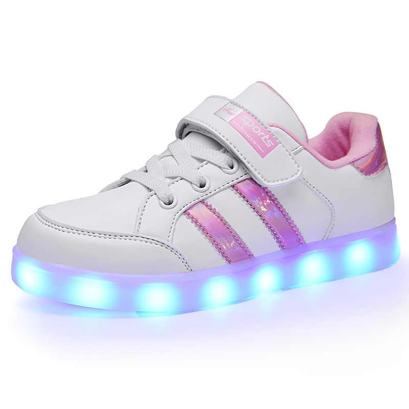 2020 led scarpe scarpe scarpe per bambini ragazze dei ragazzi dei bambini di luce up luminoso scarpe da ginnastica incandescente illuminato Spiderman illuminato illuminazione principessa