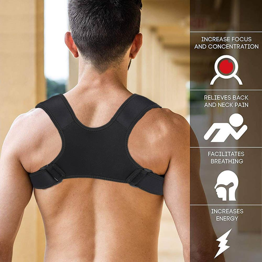 Men Women Body Brace Support Belt Adjustable Back Posture Corrector Clavicle Spine Back Shoulder Lumbar Posture Correction Strap