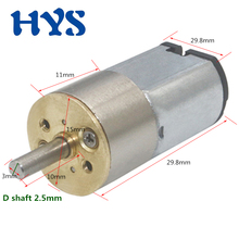 HYS DC 6V Gear Motor Mini All-metal Reducer Motors DC 6 volt 33rpm-340rpm Electric Micro motor DC6V 2.9kg.cm 0.19W smartlock bringsmart jga16 050 dc gear motor 3 6v mini gears motor 6v 40rpm low speed small electric motor micro gearbox reducer