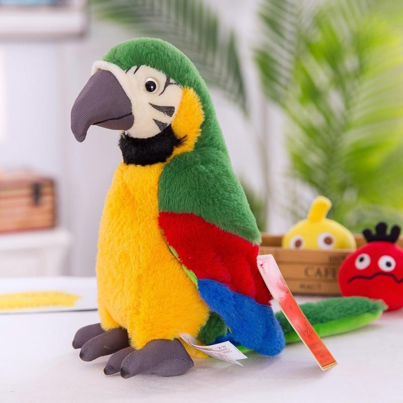 bonito brinquedos quarto animais de pelucia papagaio 05