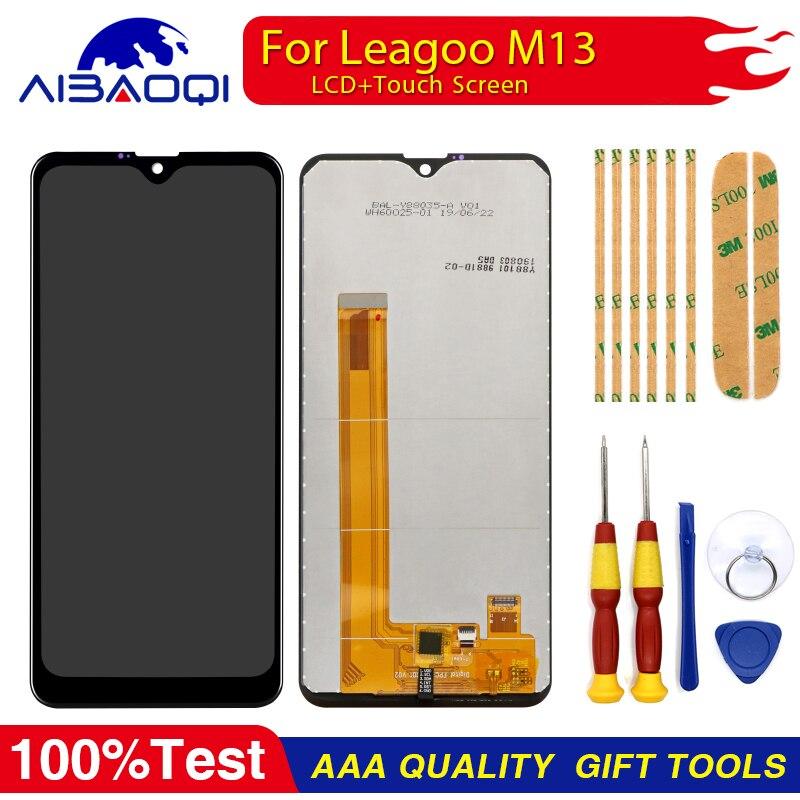 Новый оригинальный Сенсорный экран ЖК дисплей Дисплей ЖК дисплей Экран для Leagoo M13 Запчасти для авто + инструмент для демонтажа + 3 М клейЭкраны для мобильных телефонов   -
