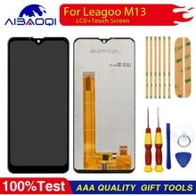 Yeni orijinal dokunmatik ekran LCD ekran LCD ekran Leagoo M13 yedek parçalar + sökmeye aracı + 3M yapıştırıcı