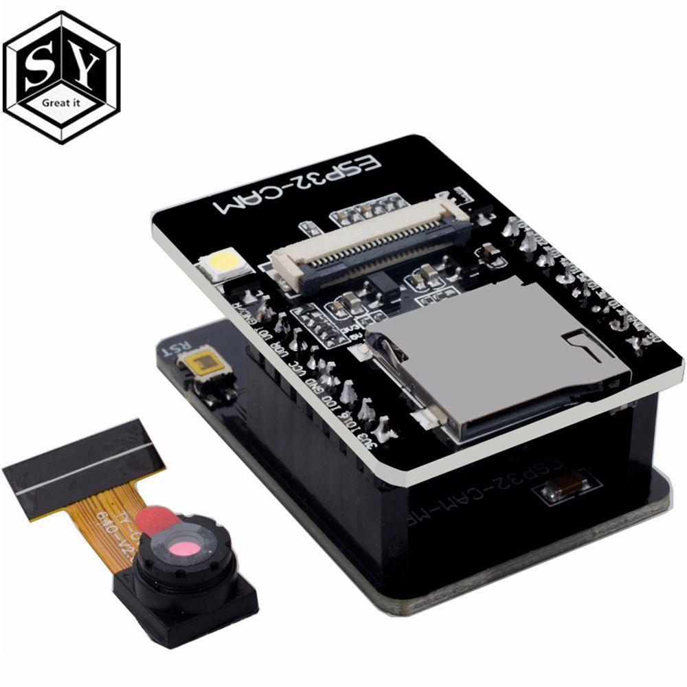 ESP32-CAM-MB ESP32-CAM WiFi + Bluetooth модуль Камера модуль макетная плата ESP32 с Камера модуль OV2640 2MP для Arduino