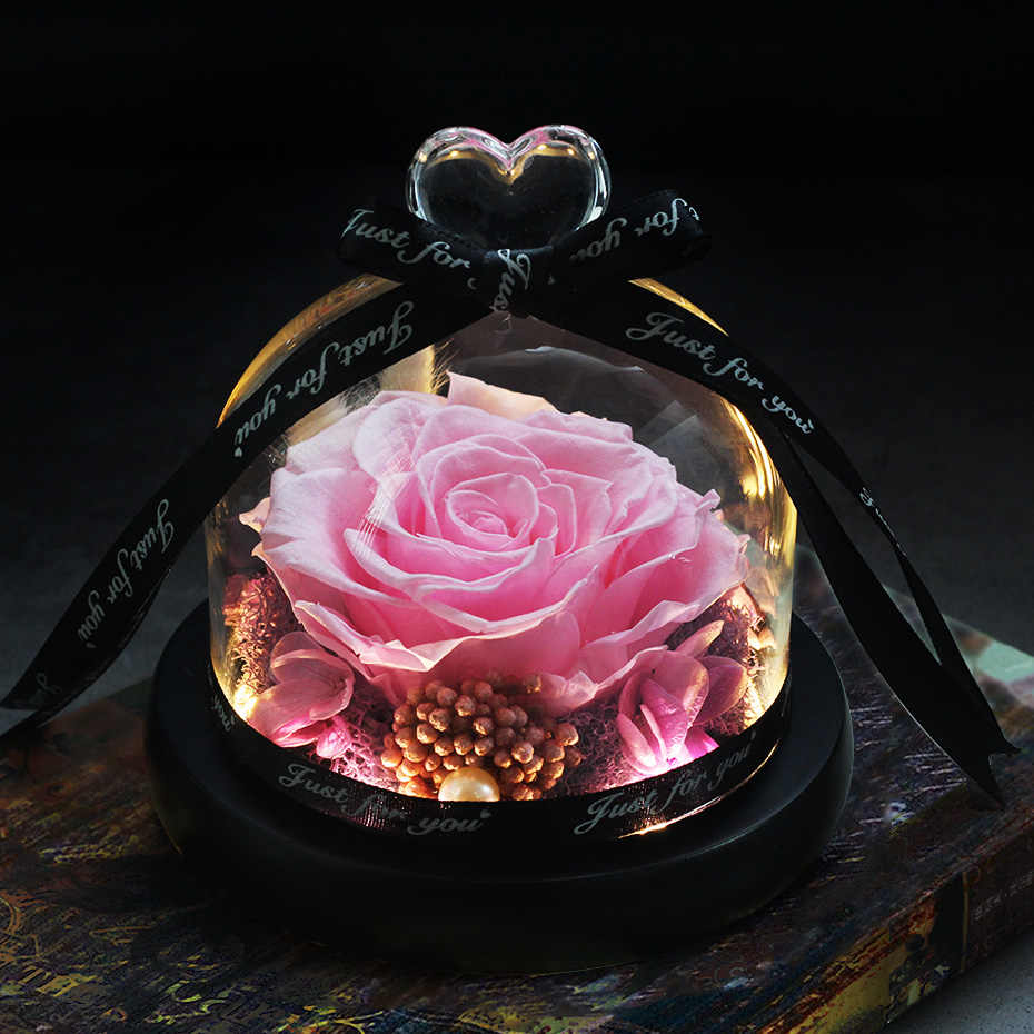 24 stile di Rosa in Cupola di Vetro La Bellezza e la Bestia Rosa Romantico regalo di Giorno Della Madre di San Valentino Regali di Giorno del Regalo di Natale' vacanze Presenti
