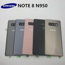 Orijinal SAMSUNG Galaxy Note 8 arka pil cam kapak N950 arka kapı konut Case paneli Note8 arka pil kapağı