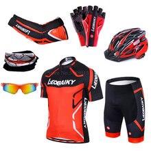 Leobaiky бренд team pro велосипедные Джерси шорты набор мягкий