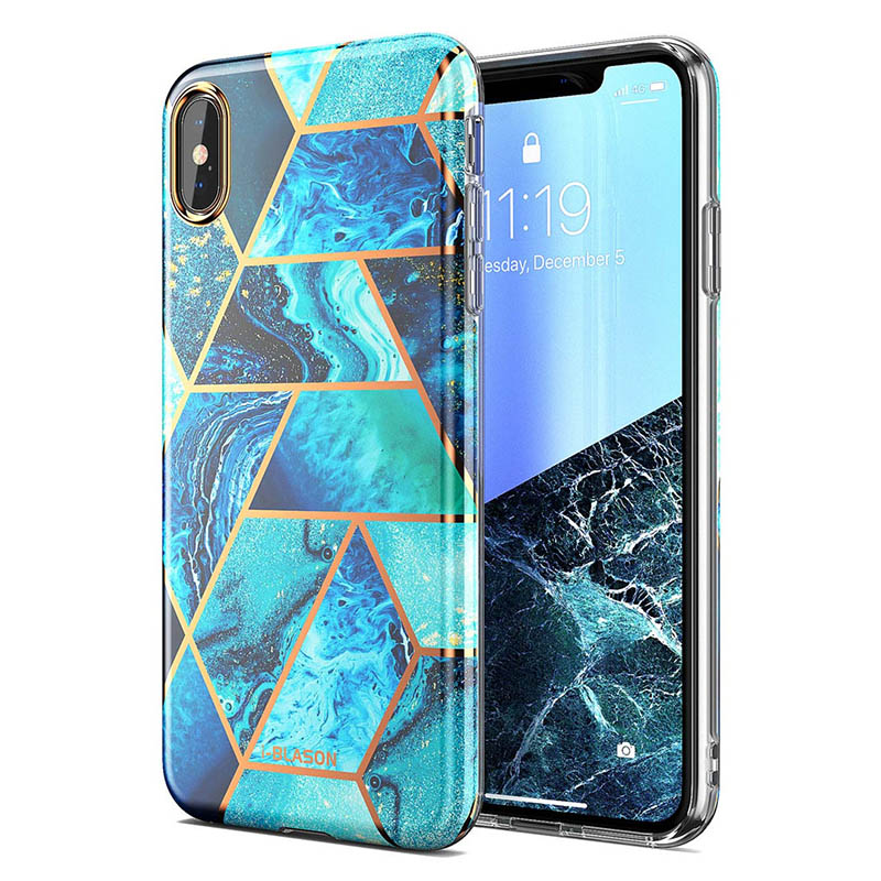 I-BLASON Cover For iPhone X Xs Case Cosmo Lite Stylish Premium Slim Bumper Protective Marble Back Case with Camera Protection image