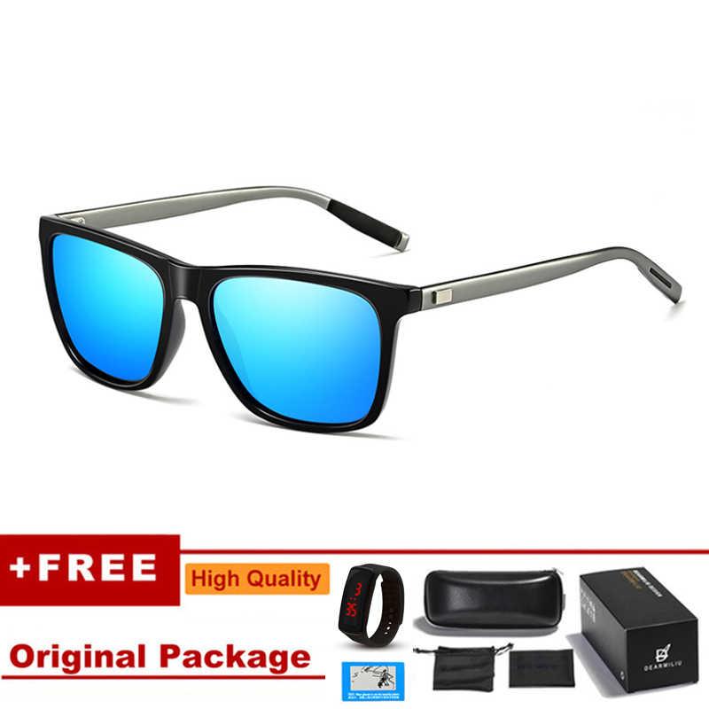 แว่นตากันแดดผู้ชายPolarizedขนาดใหญ่กระจกขับรถดวงอาทิตย์แว่นตาผู้ชายผู้หญิงยี่ห้อDesigner Retro Vintage Goggles Driver UV400