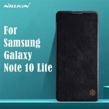 לסמסונג גלקסי הערה Samsung Galaxy Note 10 Lite לייט Flip מקרה Nillkin צ ין בציר עור Flip כיסוי כרטיס כיס ארנק מקרה עבור סמסונג Samsung Note 10 Lite לייט