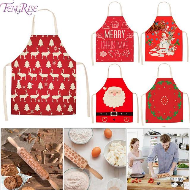 Natale Grembiule da Cucina di Natale Buon Natale Decorazioni per La Casa 2019 Ornamenti di Natale Cristmas Decorazione di Natale Navidad Nuovo Anno 2020