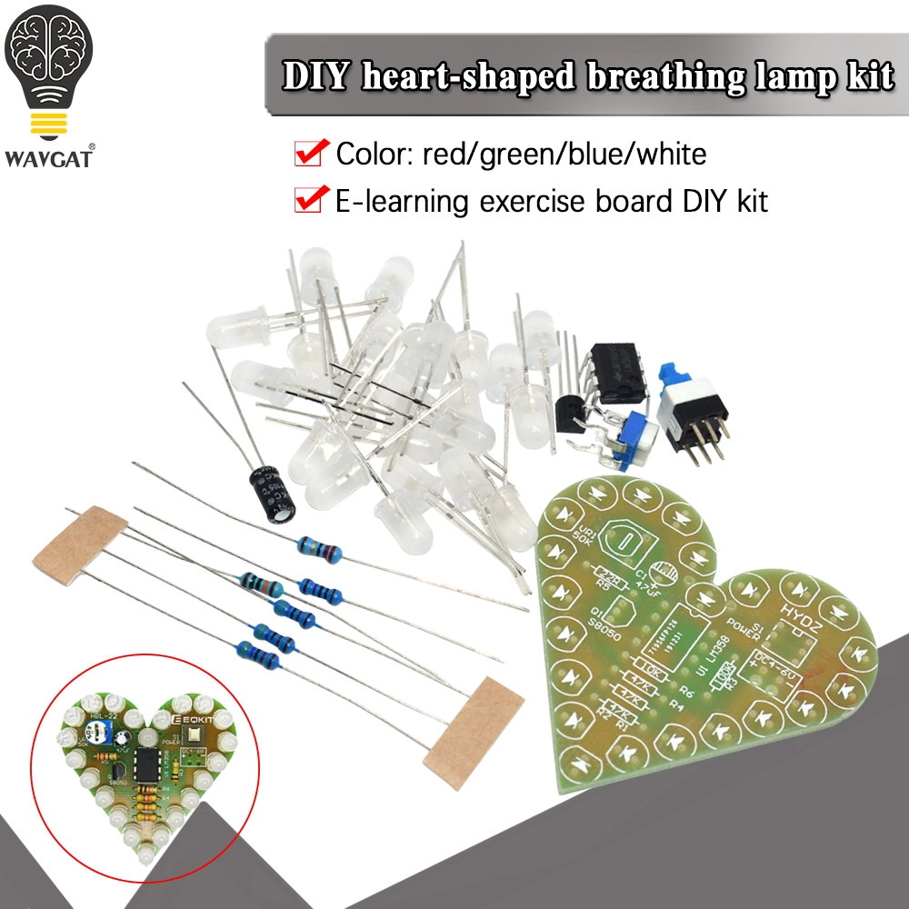 LM358 Electronic Breath Light Training LED Kit Soldering Practice Production FO