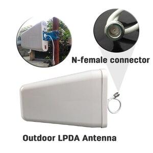 Image 3 - Lintratek 800 ~ 2700mhz LPDA חיצוני אנטנת תקרה מקורה אנטנת 15 מטר coxial כבל עבור 2G 3G 4G נייד אות מאיץ @ 8.5