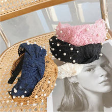 New fashion hair accessories women beaded lace headbands with