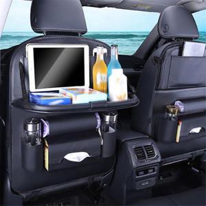 Сумка для заднего сиденья автомобиля, органайзер для хранения, держатель для телефона iPad, многокарманный столик для автомобильного сиденья...