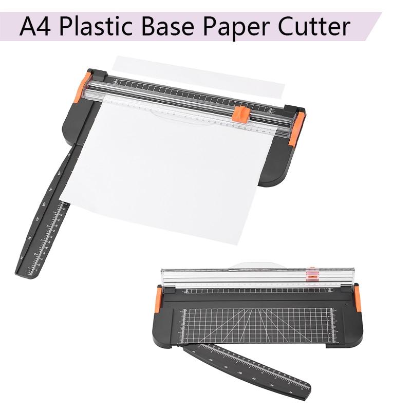 Portable A4 Plastic Base Ruler Paper Cutter Cutting Mats Office School Supplies Trimmer Scrapbooking Tools Cutting Machine