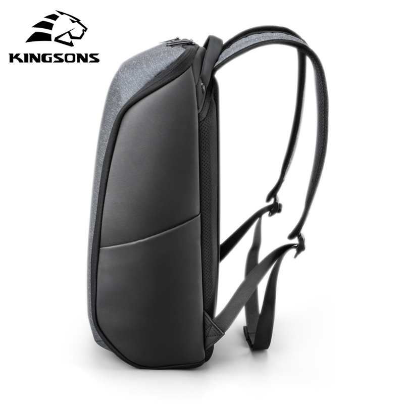 Image 5 - Kingsons Multifunction Men 15 inch Laptop Backpacks  Fashion Waterproof Travel Backpack Anti thief male Mochila school bags hot-in Backpacks from Luggage & Bags