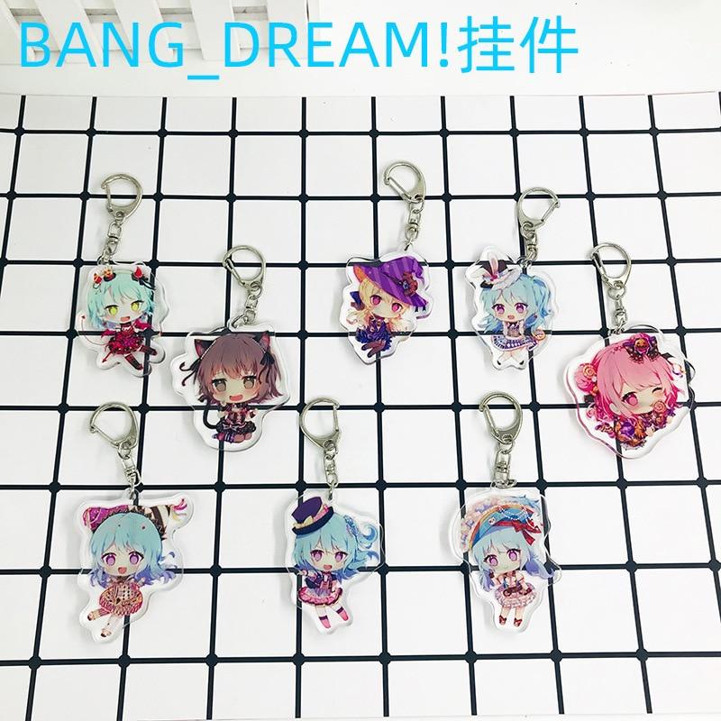 1pc BanG Dream! Anime Afterglow Roselia HHW Misaki Kanon Kokoro Lisa Ako Sayo Hina Key Chain Llavero