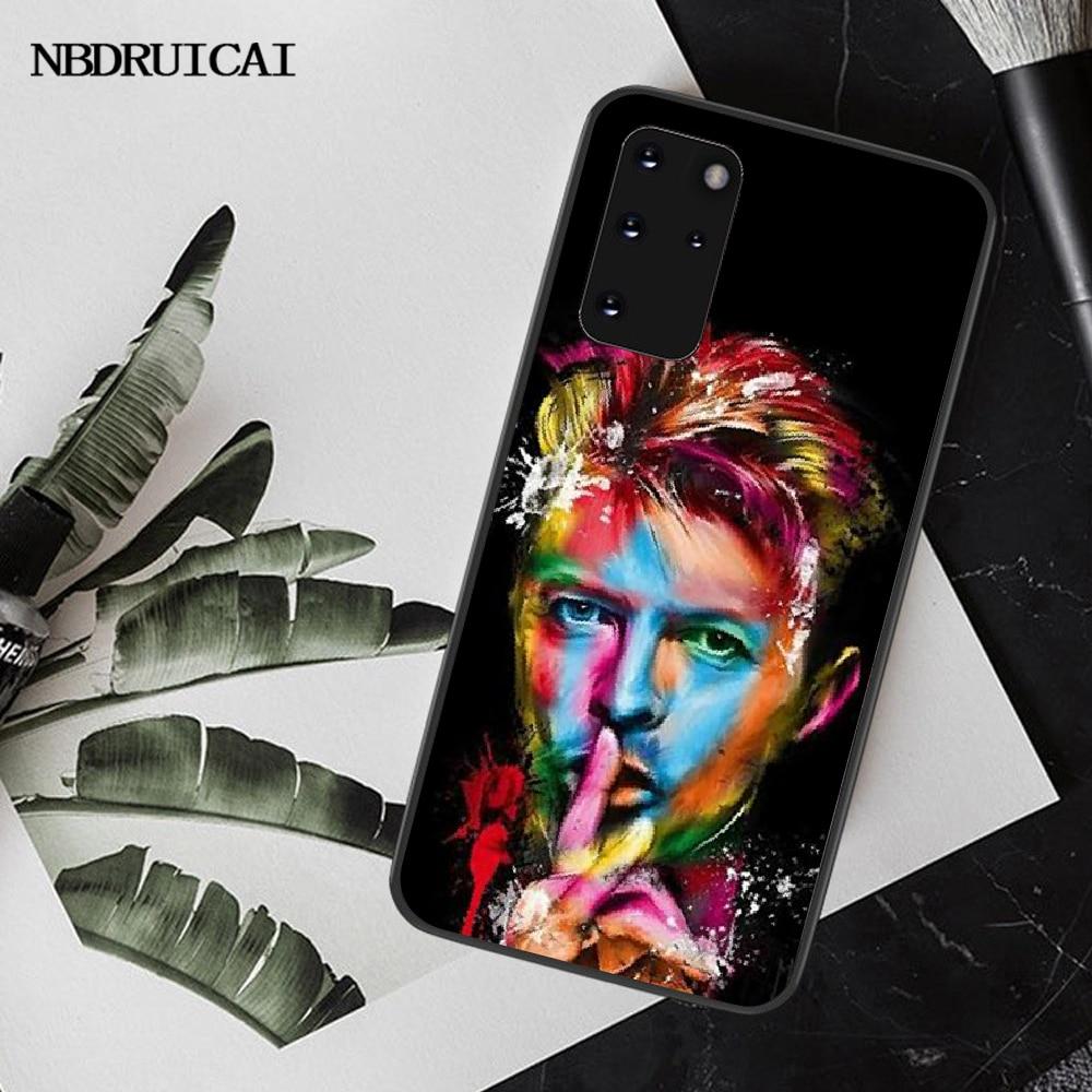 NBDRUICAI David Bowie yumuşak telefon kılıfı için Samsung S20 artı Ultra S6 S7 kenar S8 S9 artı S10 5G