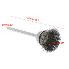3Pcs Steel Wire Wheel Brush Head Abrasive Deburring Drilling Tools Bowl-shape