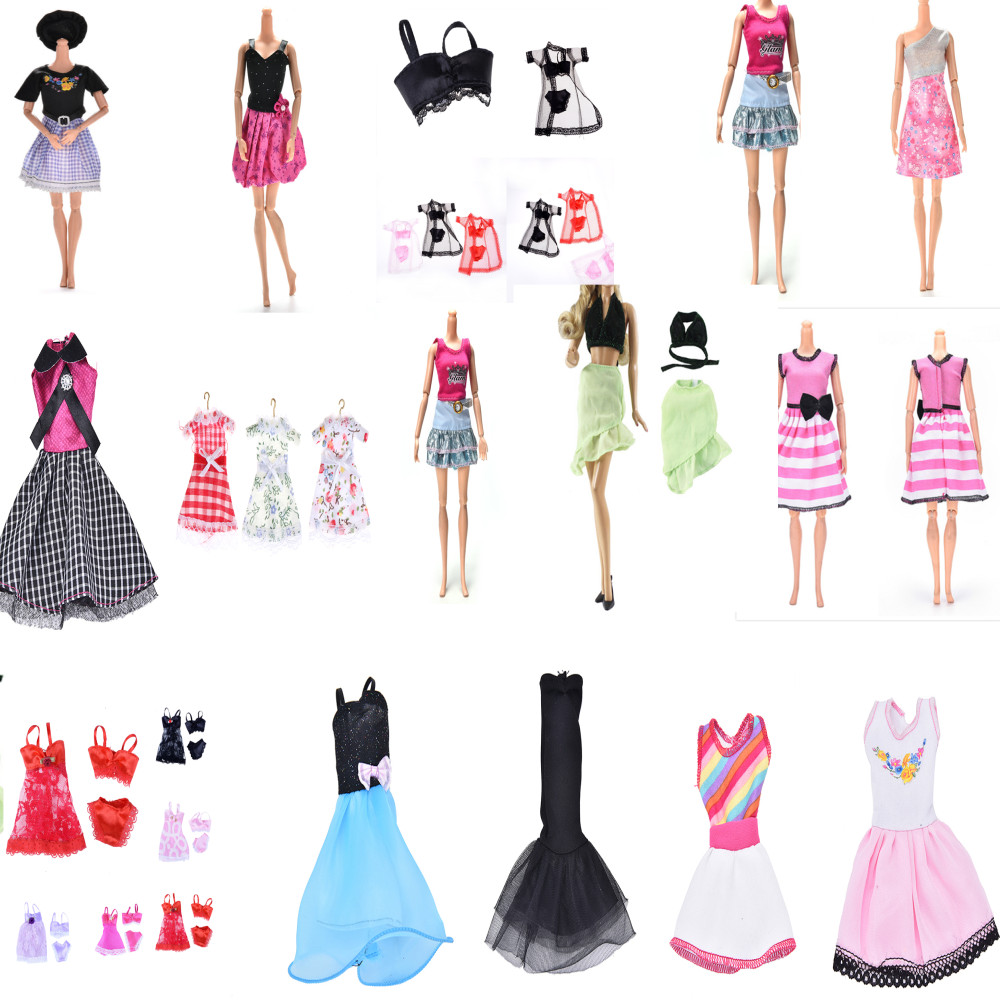 1pc Doll Clothes Fashion Dress Daily Wear Skirt Party Gown Blouse Pants For Barbie Doll Accessories Lovely Girl Kid Toy