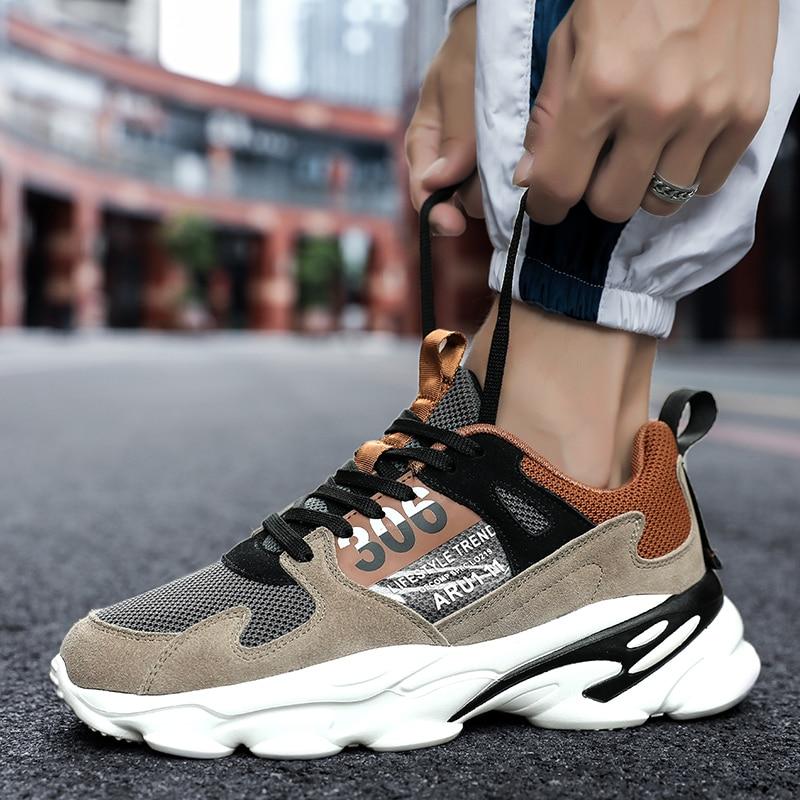 2019 Hot Sale Comfortable Men Mesh Fashion Trend Casual Shoes Soft Breathable Hombre Zapatillas Lace-up Men Sneakers Deportivas