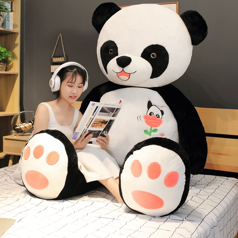 New 60cm/80/100CM Cute Big Panda Doll Plush Toy Animals Pillow Kids Birthday Christmas Gifts Cartoon Toys Big Pillow On The Bed