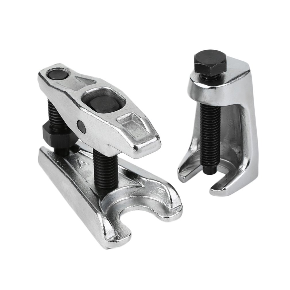 2PCS/SET Chrome-vanadium Steel Heat Treated Silver Vertical Ball Joint Puller Removal Seperator Auto Repair Tool Set