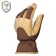 OZERO зимние рабочие перчатки-10 °F Coldproof Deerskin замшевые кожаные перчатки для вождения Thinsulate изоляционный слой и TR термальный хлопок