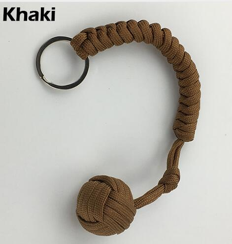 Наружная защита безопасности черная обезьяна кулак стальной шарик для девушки подшипник самообороны ремешок брелок для выживания разбитые окна - Цвет: Бежевый