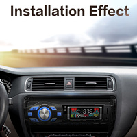 Carro mãos-livres leitor de música universal tela de toque suporta controle de voz rca conexão terminal carro eletrônica