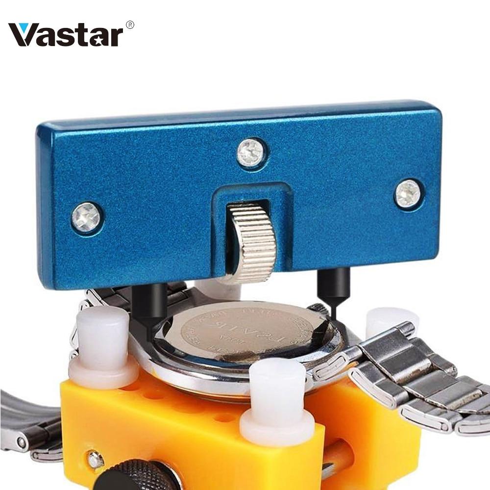 Removedor ajustável de caixa traseira do relógio, kits de ferramentas profissionais para reparo do relógio com abridor de bateria