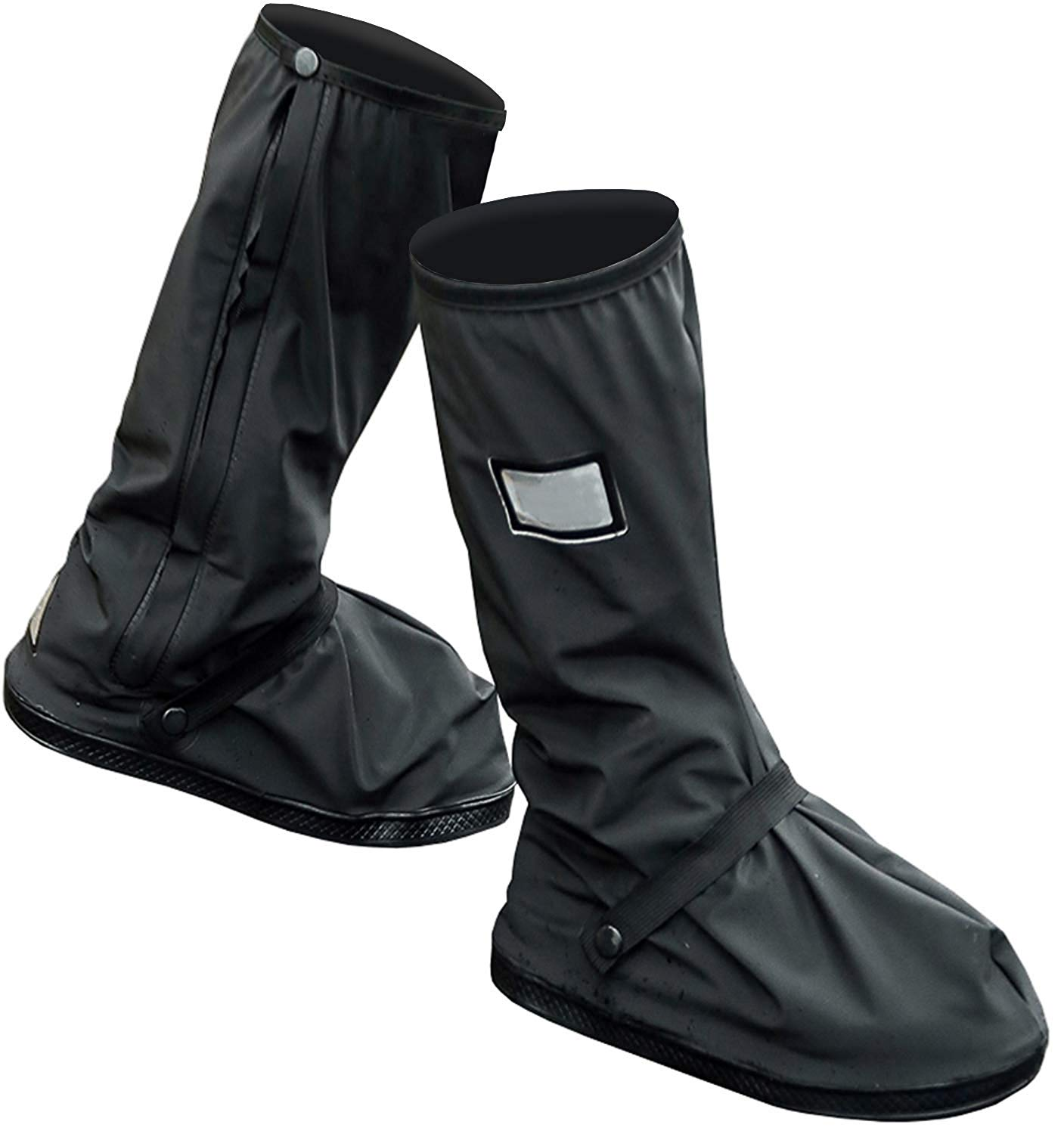 Yuding Black Rain Cover For Shoes Biker/men Rain Boots Waterproof Non-slip Cycling Rain Gear Protector Overshoes With Reflector