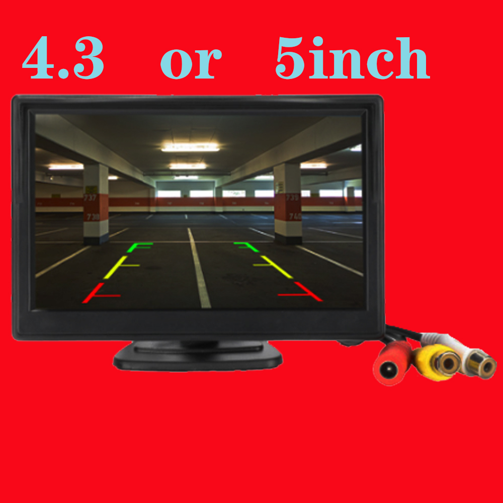 5 Inch  inch Car Monitor TFT LCD 5inch HD Digital 16 9 800 480 Screen 2 Way Video Input For Reverse Rear View Camera DVD VCD