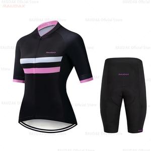 Image 3 - HuanGe 2020  Ciclismo  High Quality Women Summer Short Sleeve Cycling Clothing Cyc Clothes  cycling clothing  bike uniform